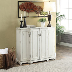 Harper White 4-Door Cabinet