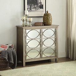 Melanie Silver Mirrored 2-Door Cabinet