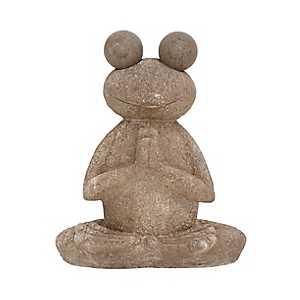 Meditating Frog Garden Statue