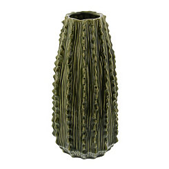 Ceramic Cactus Vase, 14 in.