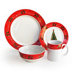 Classic Christmas 16-pc. Dinnerware Set