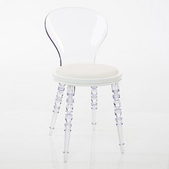 Aiden White Clear Accent Chair