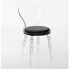 Aiden Black Clear Accent Chair