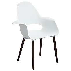 Landon White Accent Chair