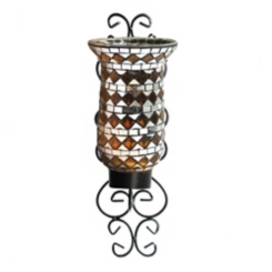 Amber Mosaic Glass Wall Sconce