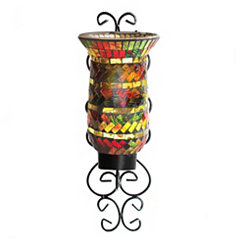 Multicolored Mosaic Glass Wall Sconce