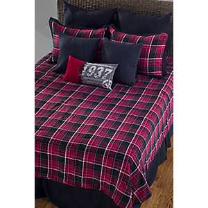 Red and Black Plaid 7-pc. Queen Duvet Set