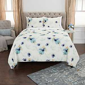 White Floral 3-pc. Queen Quilt Set