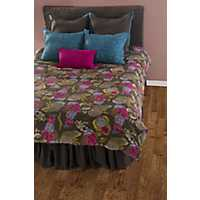 Brown Stitched 8-pc. King Duvet Set