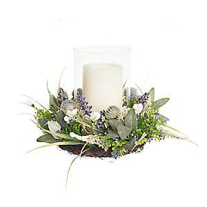 Lavender Glass Hurricane