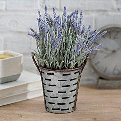Lavender Arrangement in Olive Bucket