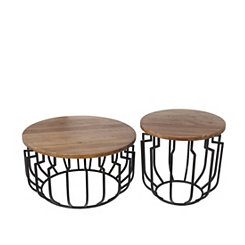 Block Top Accent Tables, Set of 2