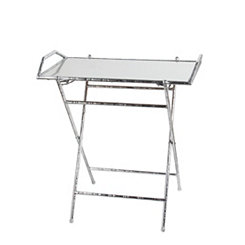 Silver Leaf Folding Tray Table