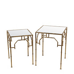 Gold Leaf Accent Tables, Set of 2