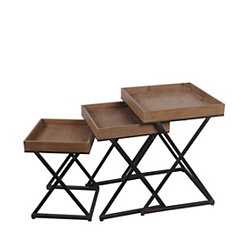 X-Frame Nesting Tables, Set of 3