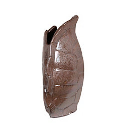 Brown Turtle Shell Ceramic Vase