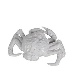 White Ceramic Crab Statue