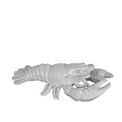 White Ceramic Spiny Lobster Statue