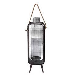 Mid-Century Modern Metal Lantern, 32 in.