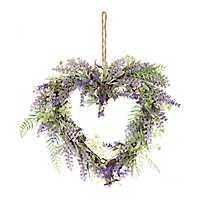 Lavender Heart Wreath