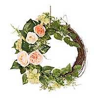 Woven Rose Half Wreath