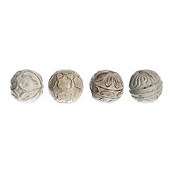 Gold Claudia Orbs, Set of 4