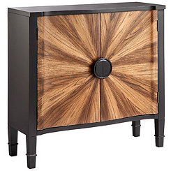 Natural Oak Sunburst 2-Door Cabinet