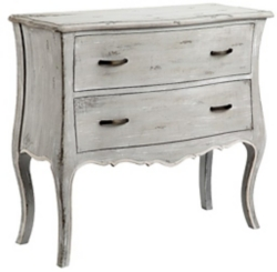 Antique Gray 2-Drawer Chest