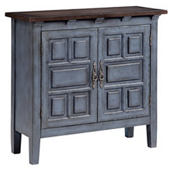 Distressed Blue 2-Door Cabinet