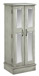 Celadon Gray Mirrored Jewelry Armoire