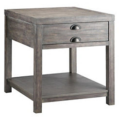 Weathered Gray Accent Table