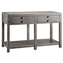 Weathered Gray Console Table