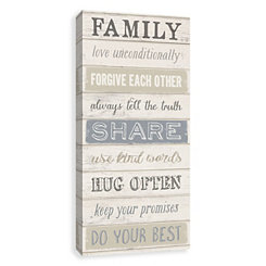 Family Love Unconditionally Canvas Art Print