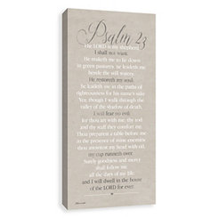 Psalm 23 Canvas Art Print