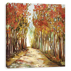 Sunny Autumn Path Canvas Art Print