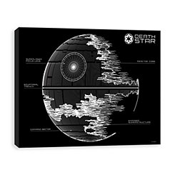 Death Star Blueprint Canvas Art Print