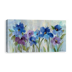 Bold Blue Flowers Canvas Art Print