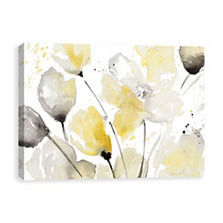 Neutral Abstract Floral Canvas Art Print