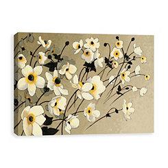 Anemones Japonaises Blancs Canvas Art Print