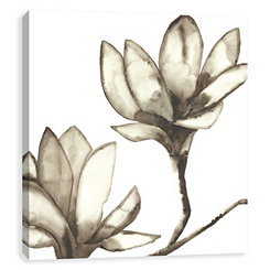 Neutral Magnolia Canvas Art Print