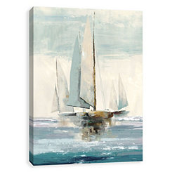 Quiet Boats Canvas Art Print