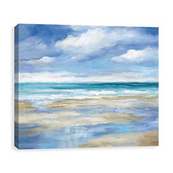 Washy Coast Canvas Art Print