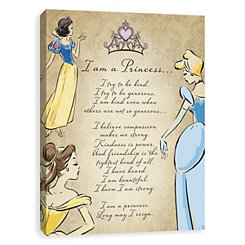 I Am A Princess Poem Canvas Art Print
