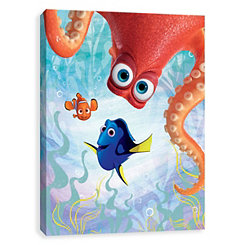 Nemo, Dory, and Hank Canvas Art Print