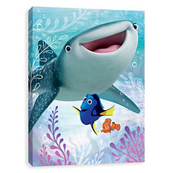 Nemo, Dory, and Destiny Canvas Art Print