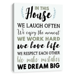 In This House Canvas Art Print