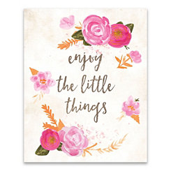 Enjoy the Little Things Canvas Art Print