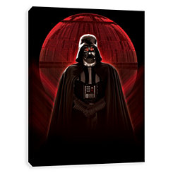 Glowing Death Star Darth Vader Canvas Art Print