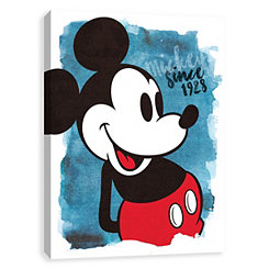Mickey Mouse Since 1928 Canvas Art Print
