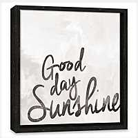 Good Day Sunshine Framed Canvas Art Print